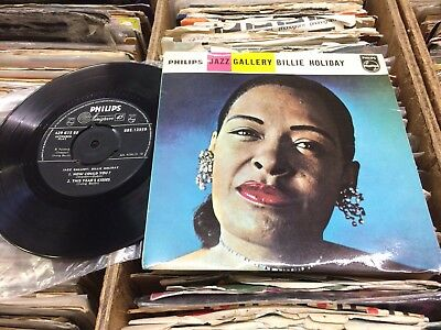 """Billie Holiday E.p.""""jazz Gallery""""1959Philips+Picture Cover.1937 Tracks.near Mint"""