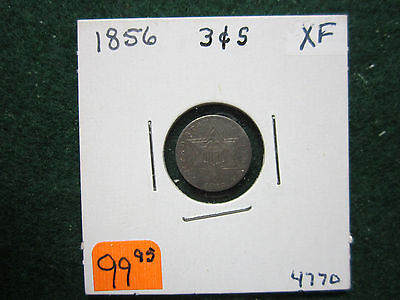 1856   3 Cent Silver