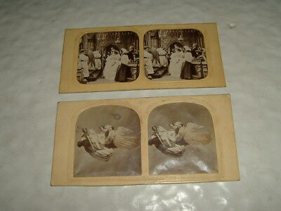 Two Tissue Stereographs Heaven Wedding