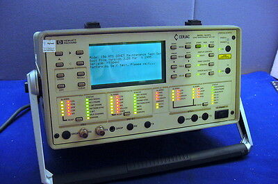 Functional Used Hp Cerjac 156 Mts Sonet Test Set For Networks/maint. W/manual