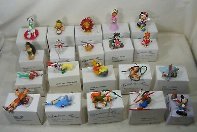 Lot Of 20 Grolier Disney Christmas Ornaments In Original Boxes