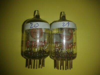 matched pair E180F / 6688 VALVO red, goldpin, data see text