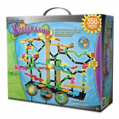 Techno Gears Marble Mania Xcelerator Construction Set LED 350+ Pieces