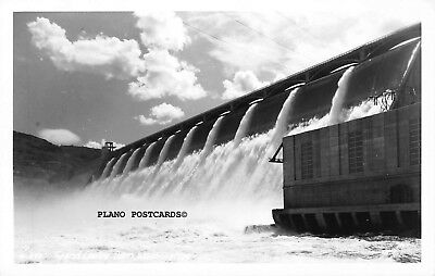 "Grand Coulee Dam, Washington ""Spillway"" Rppc Real Photo Postcard"