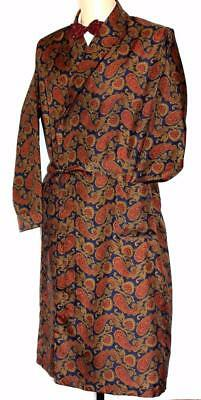 Vintage Style Silky Dressing Gown, Smoking Jacket