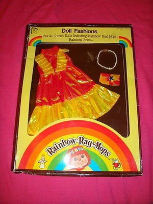 Vintage 80s Rainbow Rag Mops Rainbow Brite Size Doll Fashion Outfit NEW