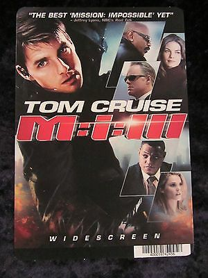 Mission Impossible 3 - movie backer card - Tom Cruise