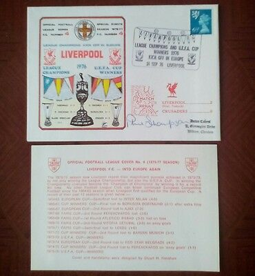PHIL THOMPSON Signed Autographed Liverpool FC First Day Cover 1976