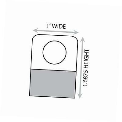 """1-11/16"""" x 1"""" round hole adhesive hang tabs 1000/pack"""