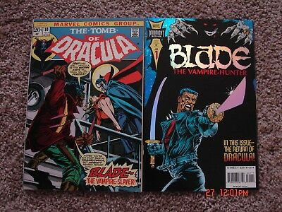 The Tomb Of Dracula #10. 1st. app. of Blade. Fine+, & Blade #1. VF. Key issues.