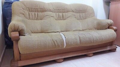 sofa base de madera de roble