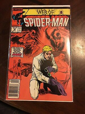 Web of Spiderman Issue 30 The Origin of The Rose Sep 1987 Marvel Comic Book