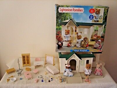 sylvanian families boxed surgery,accessories,figures inc rare oakwood squirrel