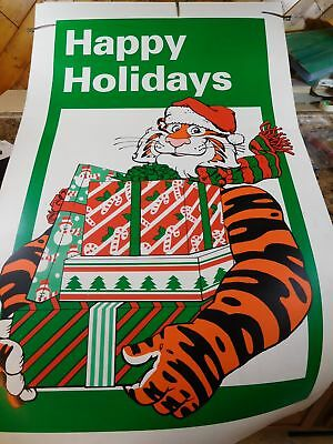 Poster Exxon Tiger and Toy Truck Holiday (2) TWO-Sided Poster Lot