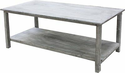 G2410: Country House Garden Table,Plants Table with Floor, Spruce Washed