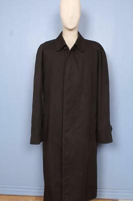 Mens BURBERRY Single Breasted Short TRENCH Coat Mac Black Size 48/50 XL