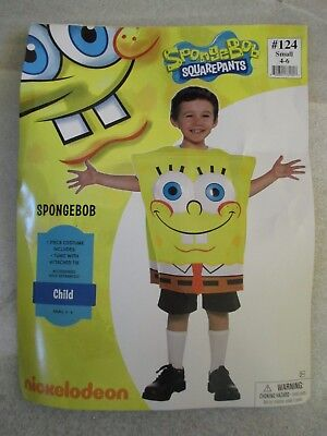 boys halloween costume spongebob squarepants foam tunic child size small 4 6