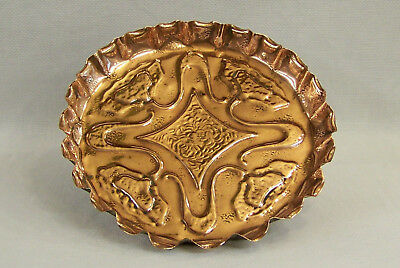 WONDERFUL ANTIQUE ARTS & CRAFTS ART NOUVEAU COPPER TRAY BY ROMOLA vgc C1910-20.