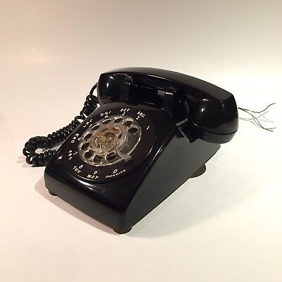 vintage 60's 70' ITTI rotary telephone Black colour nice condition!