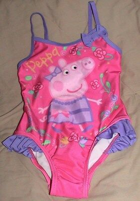 Peppa Pig Pink & Purple Swimsuit-Upf 50+/excellent Uv Protection-Size 2T-Nwt