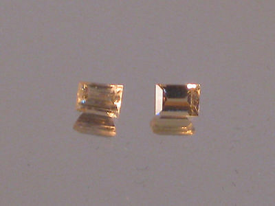 IMPERIAL TOPAZ, Precious Imperial topaz gemstones, Baguette cuts, 1 only