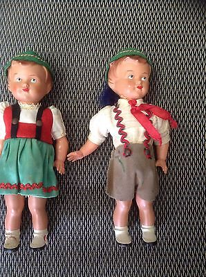 Vintage antique dolls German Mechanical  8 1/2 ins tall with key