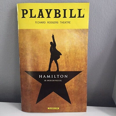 HAMILTON Theatre Playbill (from December 2016 NY performance) (Great Condition)
