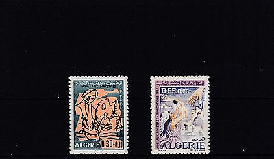 a107 - ALGERIA - SG544-545 MNH 1969 AID FOR 1969 FLOOD VICTIMS