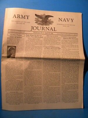 Army & Navy Journal 1946 April 13 1946 Vol 83 No 33
