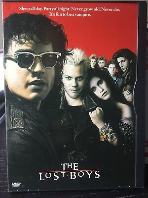 The Lost Boys (DVD, 1998) Snap Case, Sutherland, Feldman, Vampire, Halloween