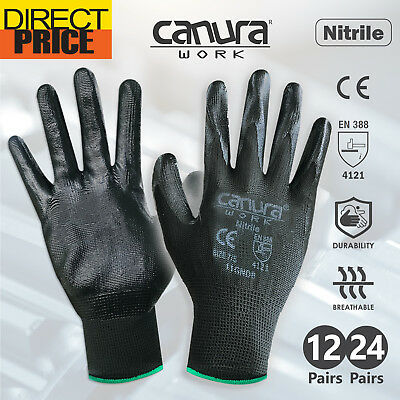 12/24 Pairs Work Gloves Nitrile Coated