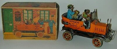 Louis Marx Amos 'N' Andy Fresh Air Taxi Tin W/U In Original Box W/ Cutouts 1930
