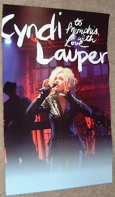 Cyndi Lauper poster - To Memphis With Love - promo poster  11 x 17 inches