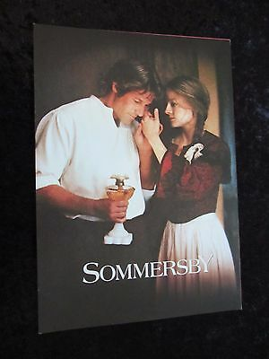 Sommersby british fold out synopsis card - Jodie Foster, Richard Gere