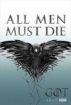 Game Of Thrones poster - All Men Must Die  - 11 x 17 inches