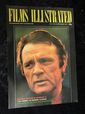 Richard Burton cover - The Exorcist II feature - Films Illustrated 1977