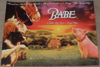 Babe movie poster print - 12 X 16  inches - Pig poster