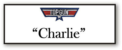Charlie From Top Gun Name Badge Halloween Costume Prop Magnet Back