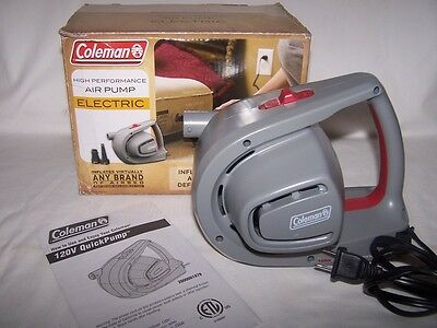 Coleman Inflates Deflates High Performance Electric Air Pump Complete in Box