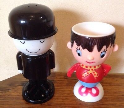 Vintage Fred And Noddy Egg Cups
