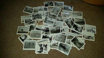 Lot of 60+ WWII Photo Prints - most with description