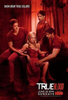 True Blood poster  # 1  : Anna Pacquin, Alexander Skaarsgard - 11 x 17 inches