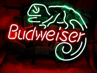 Budweiser Lizard - Beer Beverage Neon Light Sign ME153 **FREE SHIPPING**