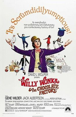 Willy Wonka and the Chocolate Factory movie poster  : 11 x 17 inches  (b)