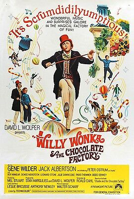 Willy Wonka and the Chocolate Factory movie poster print  (a) : 11 x 17 inches