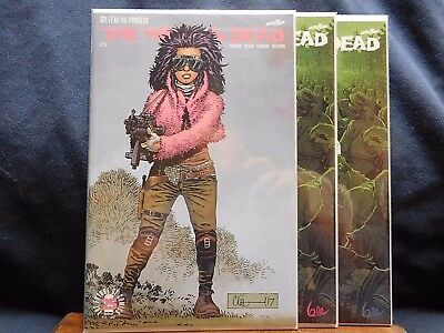 Walking Dead #171 3 Covers   ***The Princess Pink Signature Variant + A&B ***
