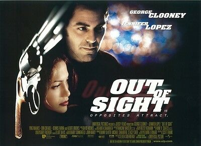 Out Of Sight movie poster print Jennifer Lopez, George Clooney - 12 x 16 inches