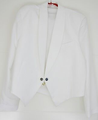 Masonic Eton White & Black Jackets with Masonic Jigger Buttons ( Free Delivery)