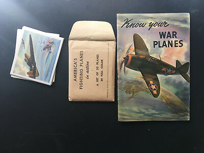 1942 F213 Coca Cola America's Fighting Planes Complete Set with envelope & Book