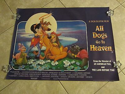 ALL DOGS GO TO HEAVEN movie poster DON BLUTH